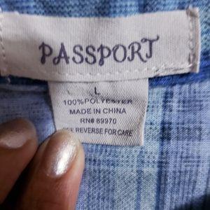 Passport Tops - Passport button down shirt  size L